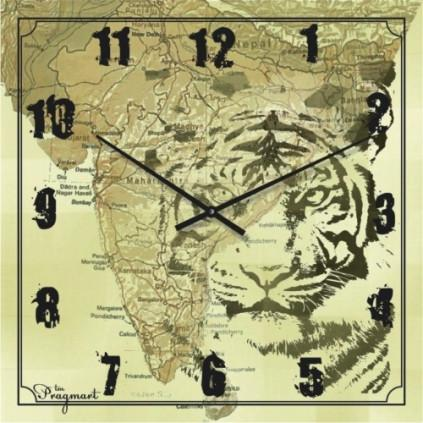 Часы настенные из стекла - Сафари(немецкий механизм)