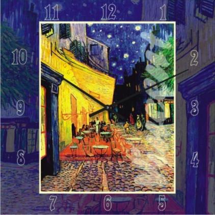 Часы настенные - Ван Гог - Ночное кафе(немецкий механизм)