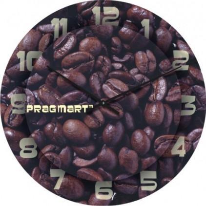 Часы настенные из стекла - кофе (немецкий механизм)