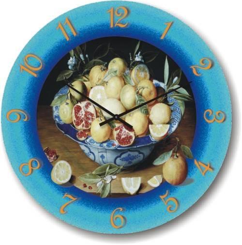 Часы настенные - фрукты-натюрморт (немецкий механизм)