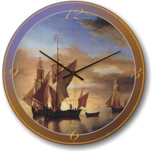 Часы настенные из стекла - (немецкий механизм)