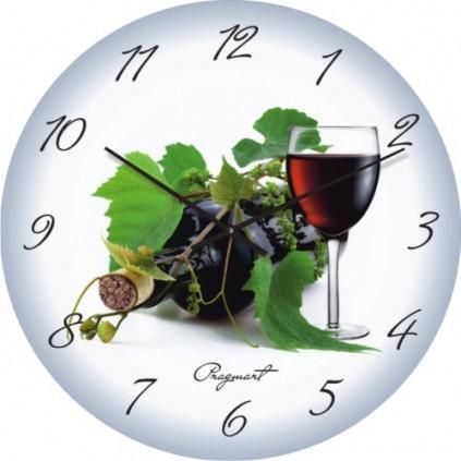 Часы настенные из стекла -вино (немецкий механизм)