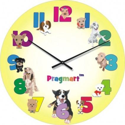 Часы настенные из стекла - детские(немецкий механизм)