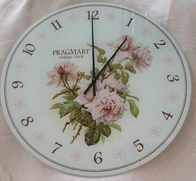 Часы настенные из стекла(немецкий механизм)до45- 50см