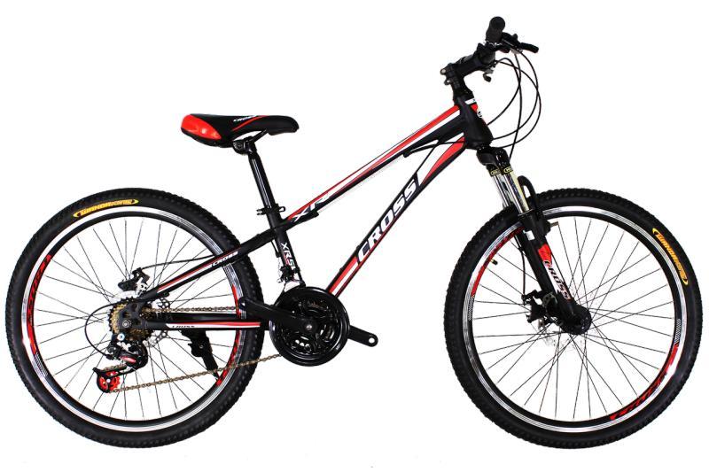 Детский велосипед Cross Racer 24 Black-Red-White
