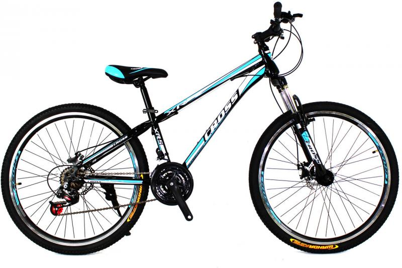 Детский велосипед Cross Racer 26 Black-Blue-White