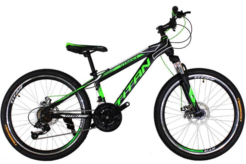 "Детский велосипед Titan Street 24"" Black-Green-White"