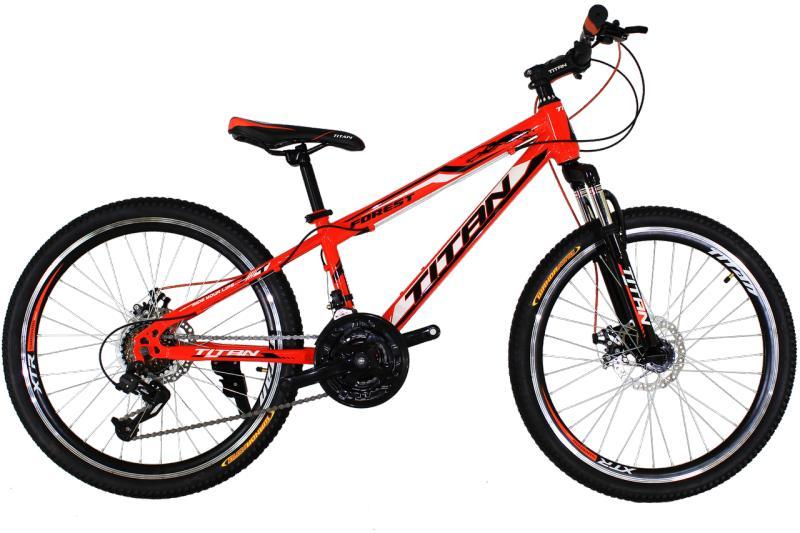"""Детский велосипед Titan Forest 24"""" Orange-Black-White"""
