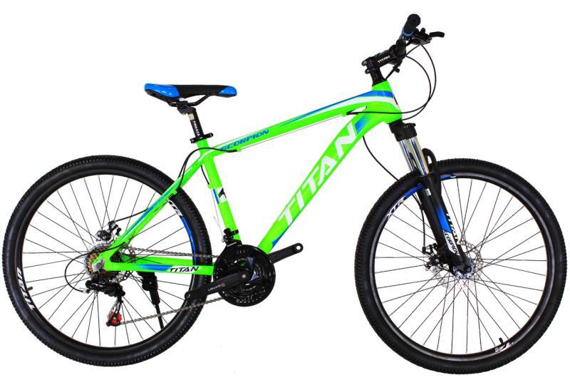 "Горный велосипед Titan Scorpion 26"" Green-White-Blue"