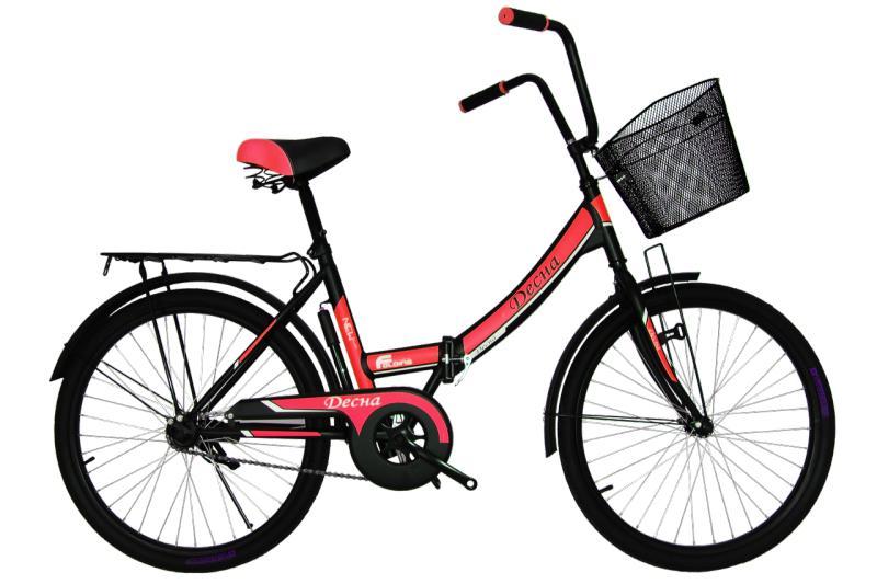 """Городской велосипед Titan Десна 24"""" Black-Red"""