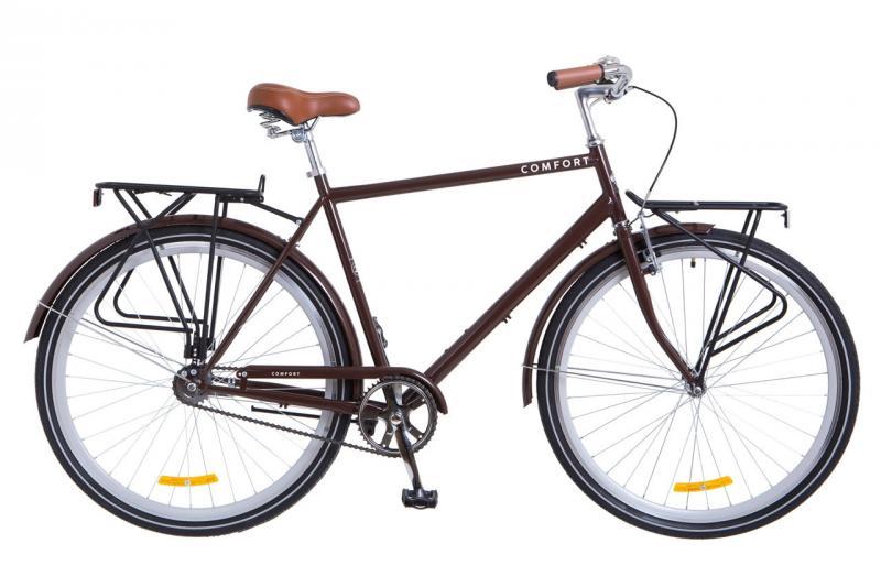 """Городской велосипед 28"""" Dorozhnik COMFORT MALE 2018 (зеленый)"""