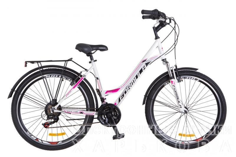 """Городской велосипед 26"""" Formula OMEGA 2018 (бело-розовый) - Велосипеды на рынке Барабашова"""