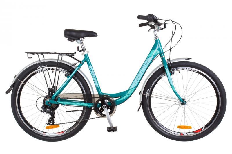"""Городской велосипед 26"""" Optimabikes VISION 2018 (бело-розовый с голубым (м))"""
