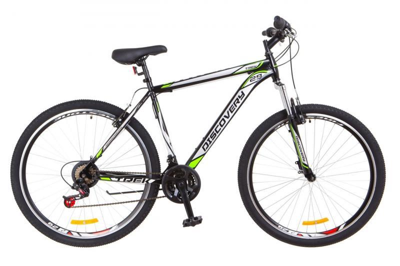 """Горный велосипед 29"""" Discovery TREK 2018 (черно-оранжевый с синим)"""