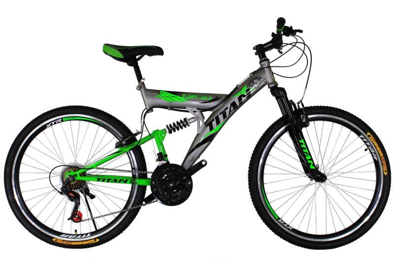 """Горный велосипед Titan Tornado 26"""" Silver-Black-Green"""