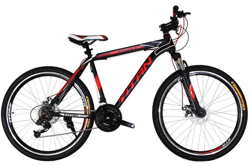 """Горный велосипед Titan Street 26"""" Black-Red-White"""