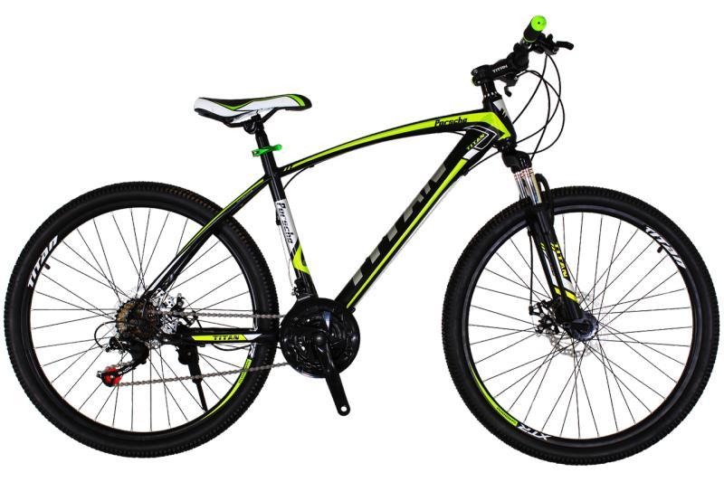 """Горный велосипед Titan Porsche 26"""" Black-Green-Gray"""
