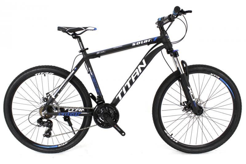 """Горный велосипед Titan Solar 26"""" Black-Blue-Gray"""