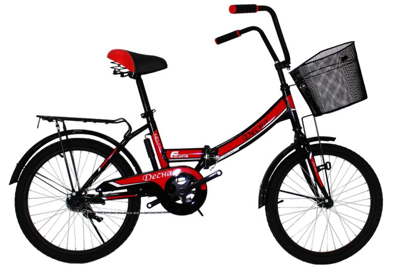 """Городской велосипед Titan Десна 20"""" Black-Red"""