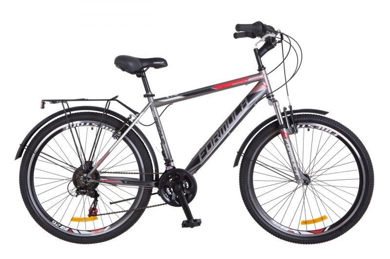 """Городской велосипед 26"""" Formula MAGNUM 2018 (серый (м))"""