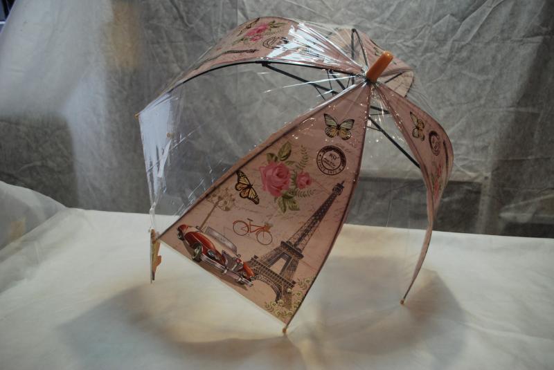 Зонт детский прозрачный 021MAX ПВХ грибок