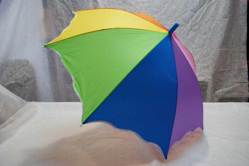 Зонт детский радуга, трость