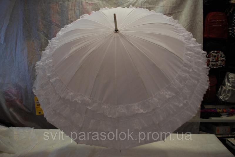 Зонт женский трость Zest 21572W(Свадебный)