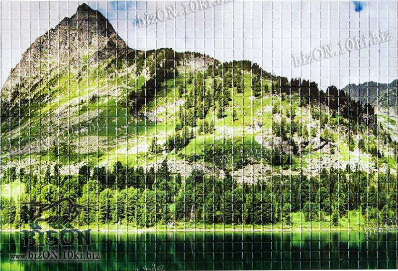 Фото Листовые панели ПВХ Панно «ГОРНОЕ ОЗЕРО» (3 листа в комплекте)   Листовые панели ПВХ
