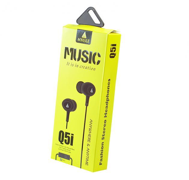 Наушники Aomale Q5i (с микрофоном) Black