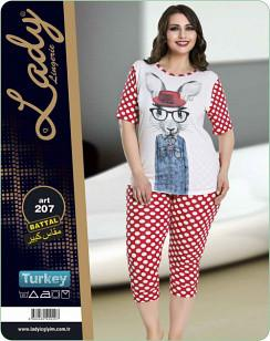 Комплект женский футболка и бриджи LADY TEXTILE