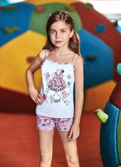 Комплект для девочки майка и шорты BERRAK
