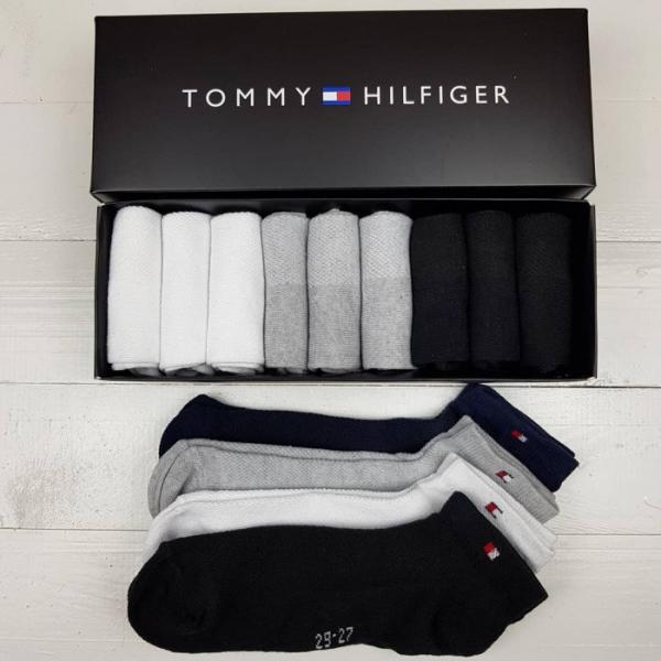 Набор мужских носков Tommy Hilfiger укороченные 9 штук 42-43