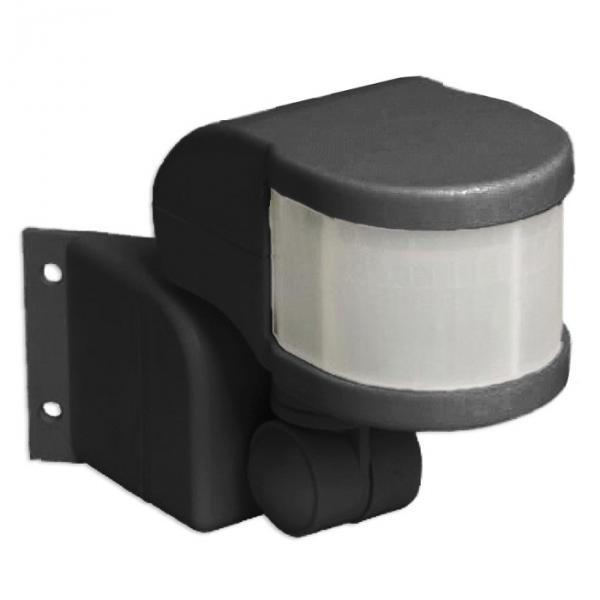 Датчик движения ДД 018В черный, макс. нагрузка 1100Вт, угол обзора 270град, дальность 12м, IP44, IEK