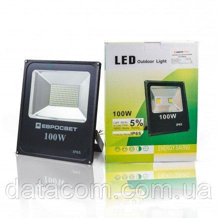 Прожектор светодиодный EVRO LIGHT EV-100-01 100W 95-265V 6400K SMD