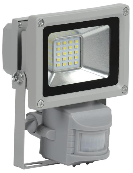 Прожектор СДО 05-10Д (детектор) светодиодный серый SMD IP44 IEK