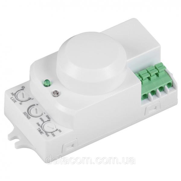Датчик движения ДД-МВ 201 белый 1200Вт  360 гр. 8М IP20