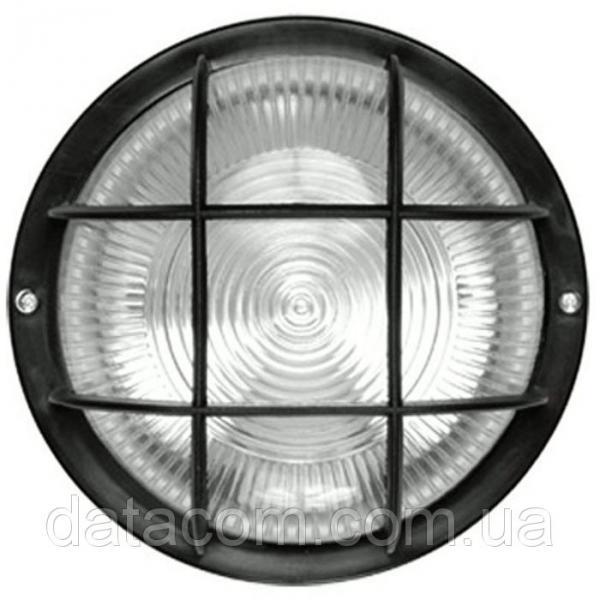 Светильник НПП2602 черный/круг с решеткой пластик 60Вт IP54 IEK