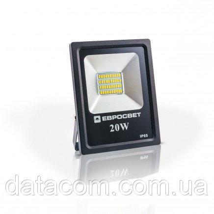 Прожектор EVRO LIGHT 20Вт 6500k BASIC 170-240В 1100Лм