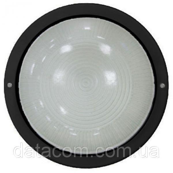 Светильник НПП2602А черный/круг без решетки пластик 60Вт IP54IEK