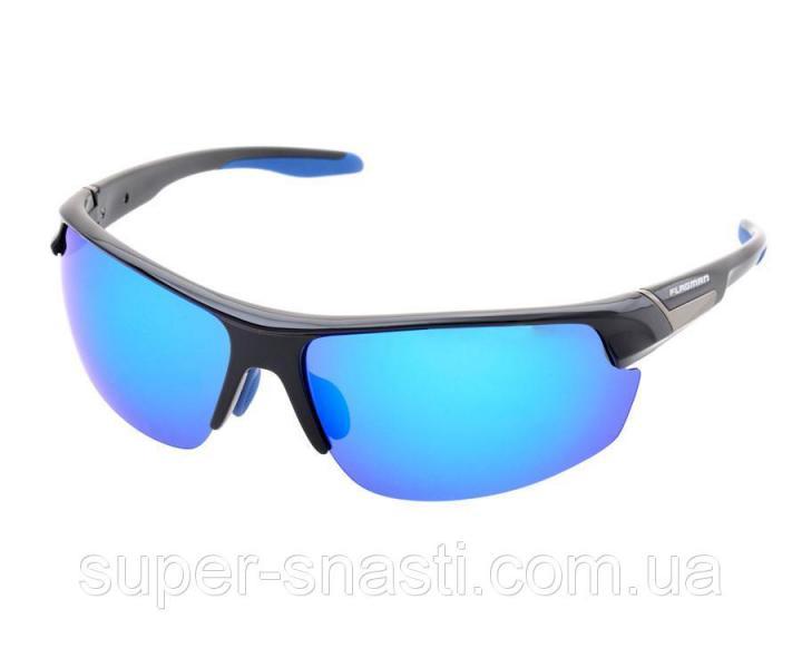 Очки поляризационные Flagman F107134 lens:blue revo кейс в комплекте