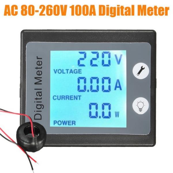 Вольтметр AC 80 - 260, Ваттметр Амперметр 100A