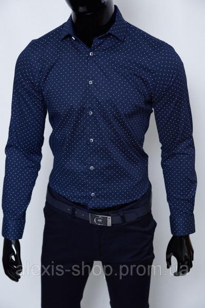 Рубашка мужская Bazolo 1795 синяя