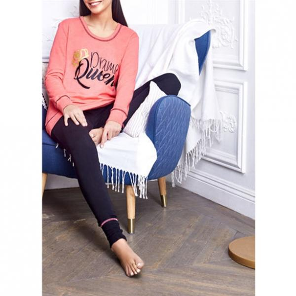 Комплект женской домашней одежды: джемпер и брюки