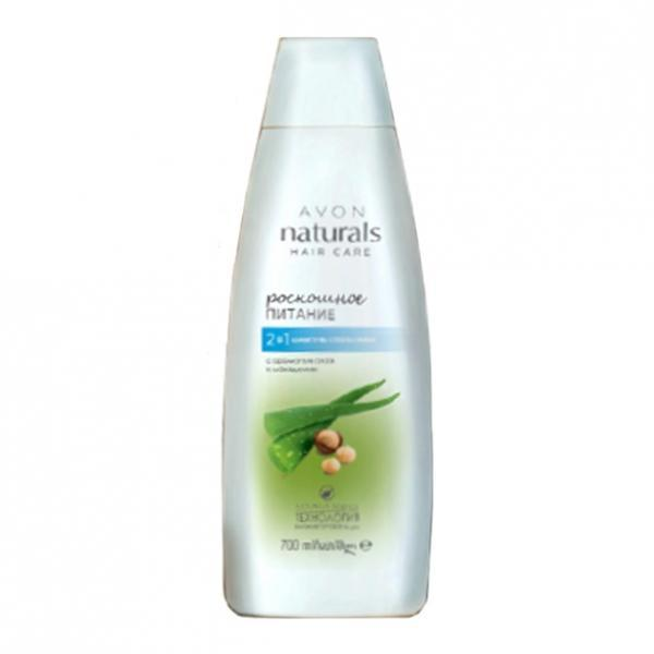 Фото для волос, шампуни и ополаскиватели Шампунь-ополаскиватель 2-в-1 с ароматом алоэ и макадамии «Роскошное питание» (700 мл)