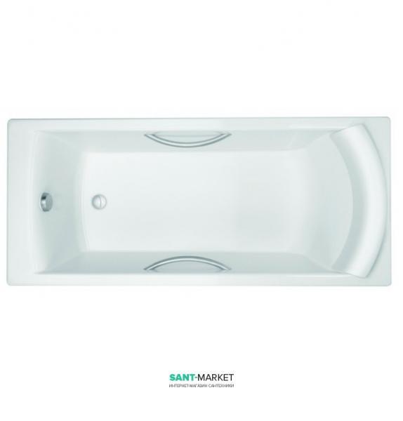 Ванна чугунная Jacob Delafon Biove 170x75 с ручками и ножками E2938-00