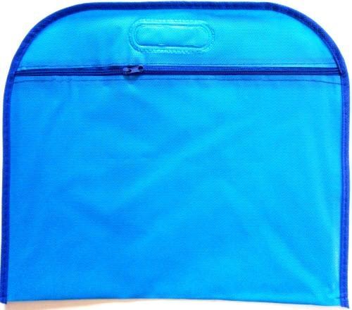Папка А4 на молнии с ручкой - РР-НТ-202-03 (синяя)