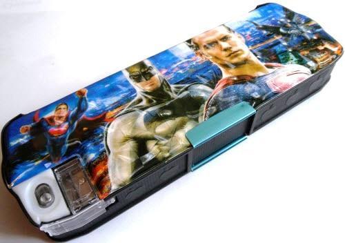 "Пенал пластиковый на магнитах с точилкой ""Бетмен, Супермен"" - 65027B-1"