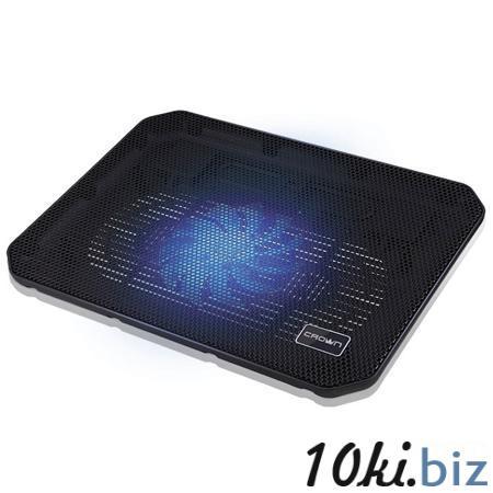 """Подставка охлажд. Crown CMLC-M10 для ноутбука до 17"""", 1 вен. 140 мм, black Подставки для ноутбуков в Москве"""