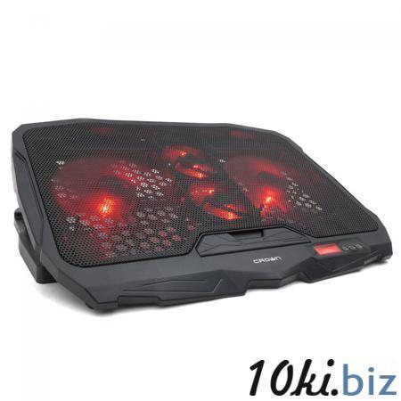 """Подставка охлажд. Crown CMLS-01 для ноутбука до 17"""", 2 вен. 125 мм, 2 вен. 70 мм, Red LED подсветка, black Подставки для ноутбуков в Москве"""