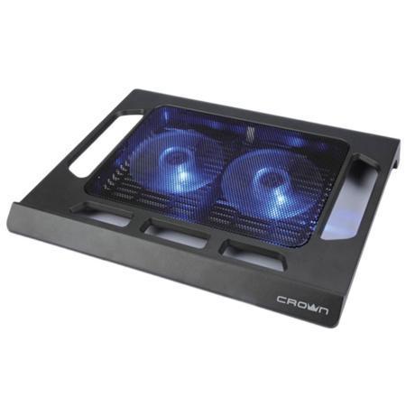 """Подставка охлажд. Crown CMLS-937 для ноутбука до 15,6"""", 2 вен. 120 мм, черная"""